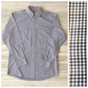 Jos A Banks Traveler Plaid Button Down Shirt